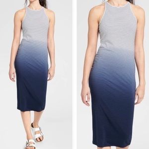 Athleta sunkissed stripe ombré midi dress xxs